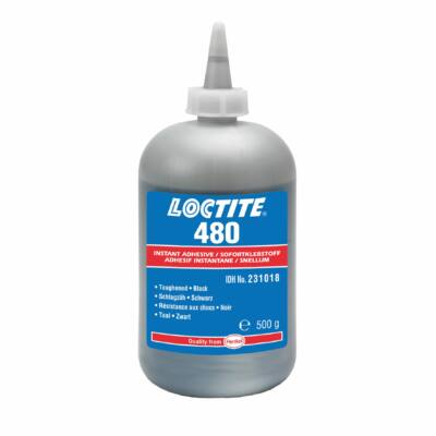 Loctite 480 500 gr-os ütésálló pillanatragasztó fém/fém, fém/gumi és mágnes ragasztásához