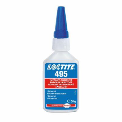 Loctite 495 50 gr-os általános felhasználású, kis viszkozitású pillanatragasztó