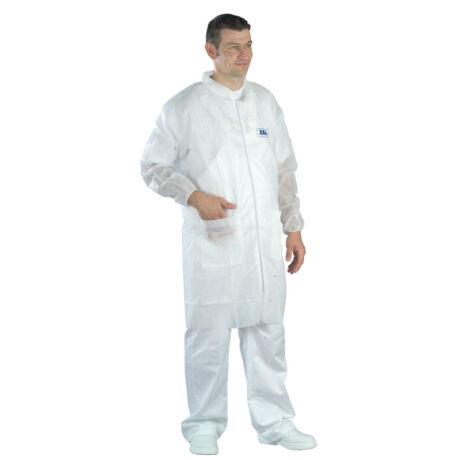 Tidy Professional fehér színű cipzáros látogatóköpeny
