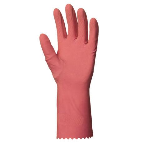 EP munkavédelmi htg rózsaszín gumikesztyű, 30cm/0,4mm, bolyhozott belső s-es méret