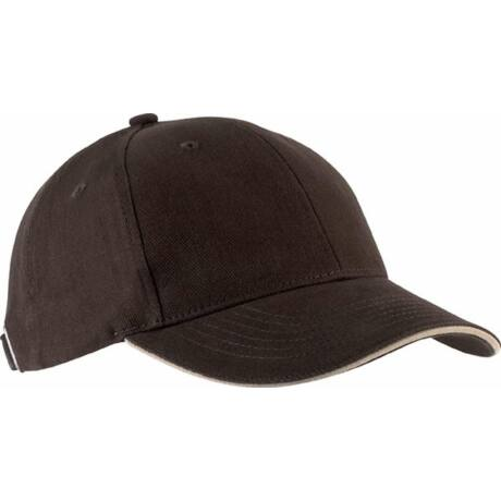 KP011 Orlando 6Panel baseball sapka barna/fehér színben