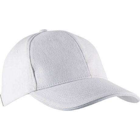 KP011 Orlando 6Panel baseball sapka fehér színben