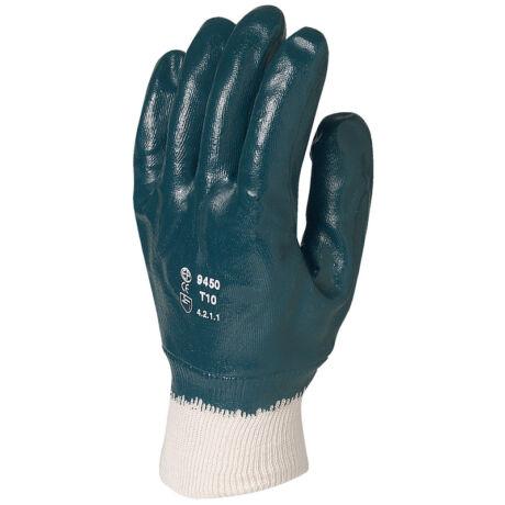 EP munkavédelmi kézháton csuklóig teljesen mártott kék nitril kesztyű 8-as méret