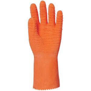 EP munkavédelmi kesztyű pamutra mártott, saválló narancs színben 33cm