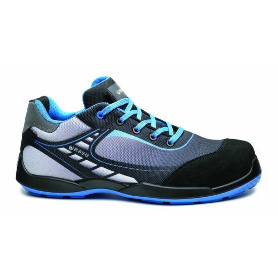 Base B0676 Bowling - Tennis Shoe S3 SRC munkavédelmi félcipő fekete/kék színben