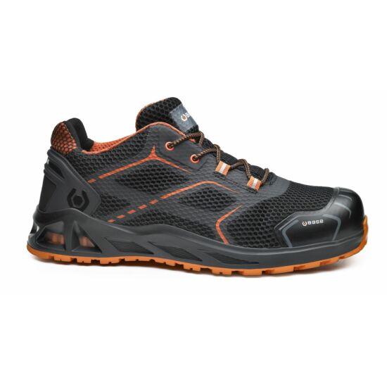 Base B1004 K-Step Shoe S3 SRC munkavédelmi félcipő fekete/narancs színben