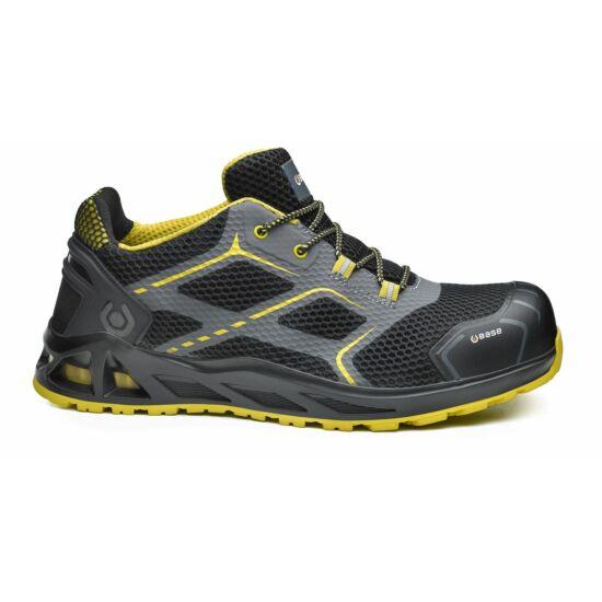 Base B1004 K-Speed Shoe S3 SRC munkavédelmi félcipő fekete/sárga színben