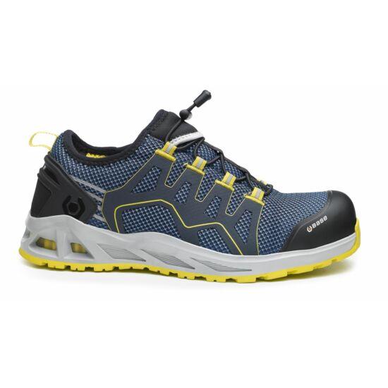 Base B1006 K-Walk Shoe S1P HRO SRC munkavédelmi félcipő kék/sárga színben