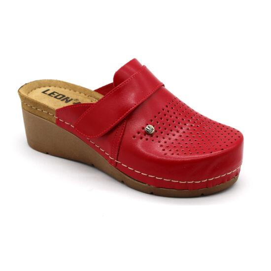 Leon 1001 női klumpa piros színben
