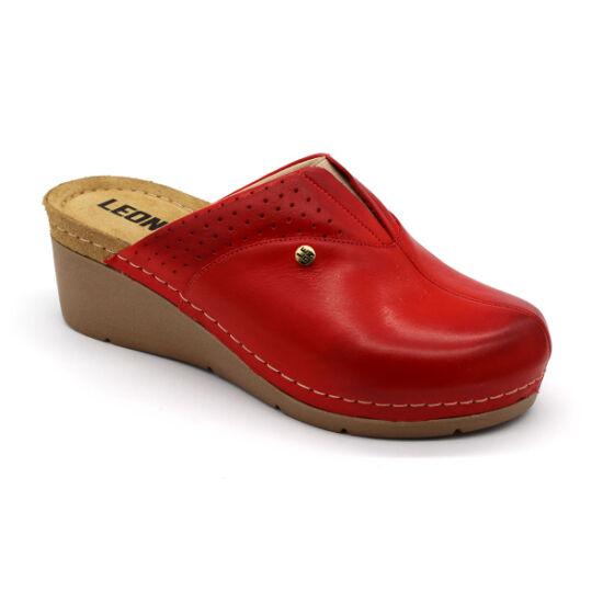 Leon 1002 női klumpa piros színben