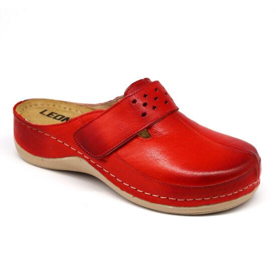 Leon 902 piros színű kényelmes klumpa